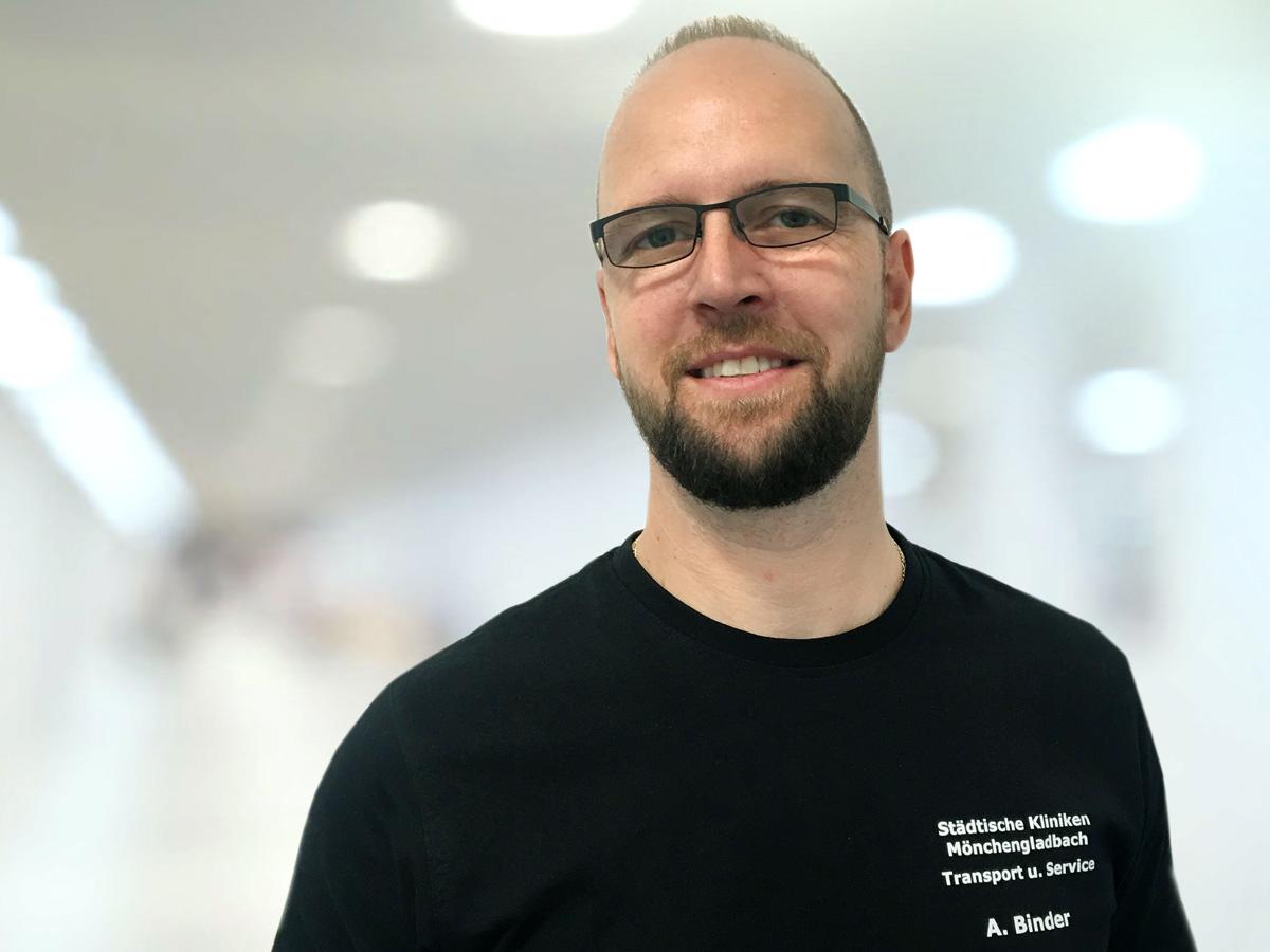 Andy Binder, Abfallbeauftragter Städtische Kliniken Mönchengladbach (Foto: Städtische Kliniken Mönchengladbach)