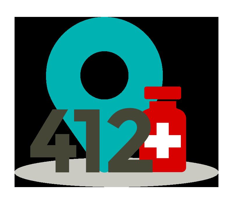 412 Impfzentren im Deutschland
