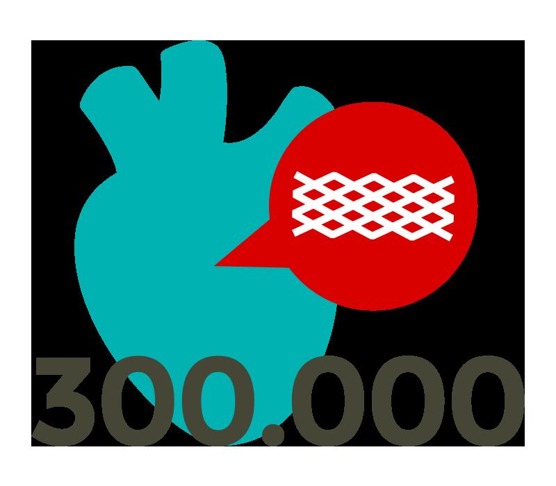 Über 300.000 Stents-Implantate pro Jahr in Deutschland
